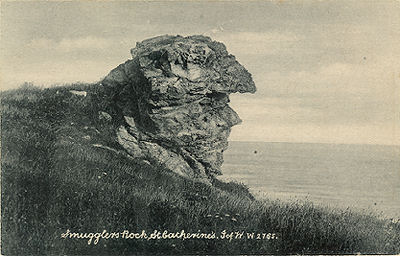 Smuggler rock, st Catherines