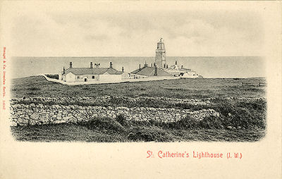 St Catherines lighthouse around 1900