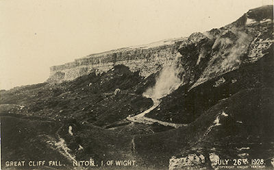 Undercliff landslip