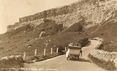 Motor car on Undercliff